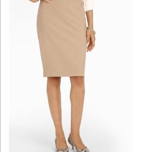 NWT Talbots Pencil Skirt Khaki Lined 16W Petite